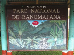 Ranomafana Sign
